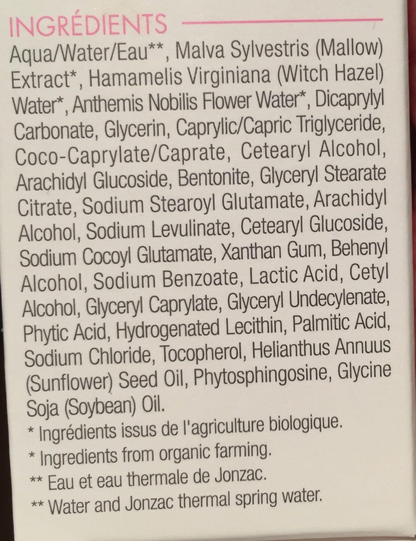 Jonzac Reactive Bio High Tolerance Light Emulsion 40ML (intolerant Skin) - Ingrédients