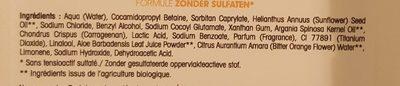 Douche Crème Argan & Fleur d'Oranger - Ingrédients