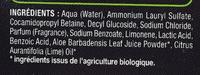 Douche & Bain parfum Cola - Ingredients