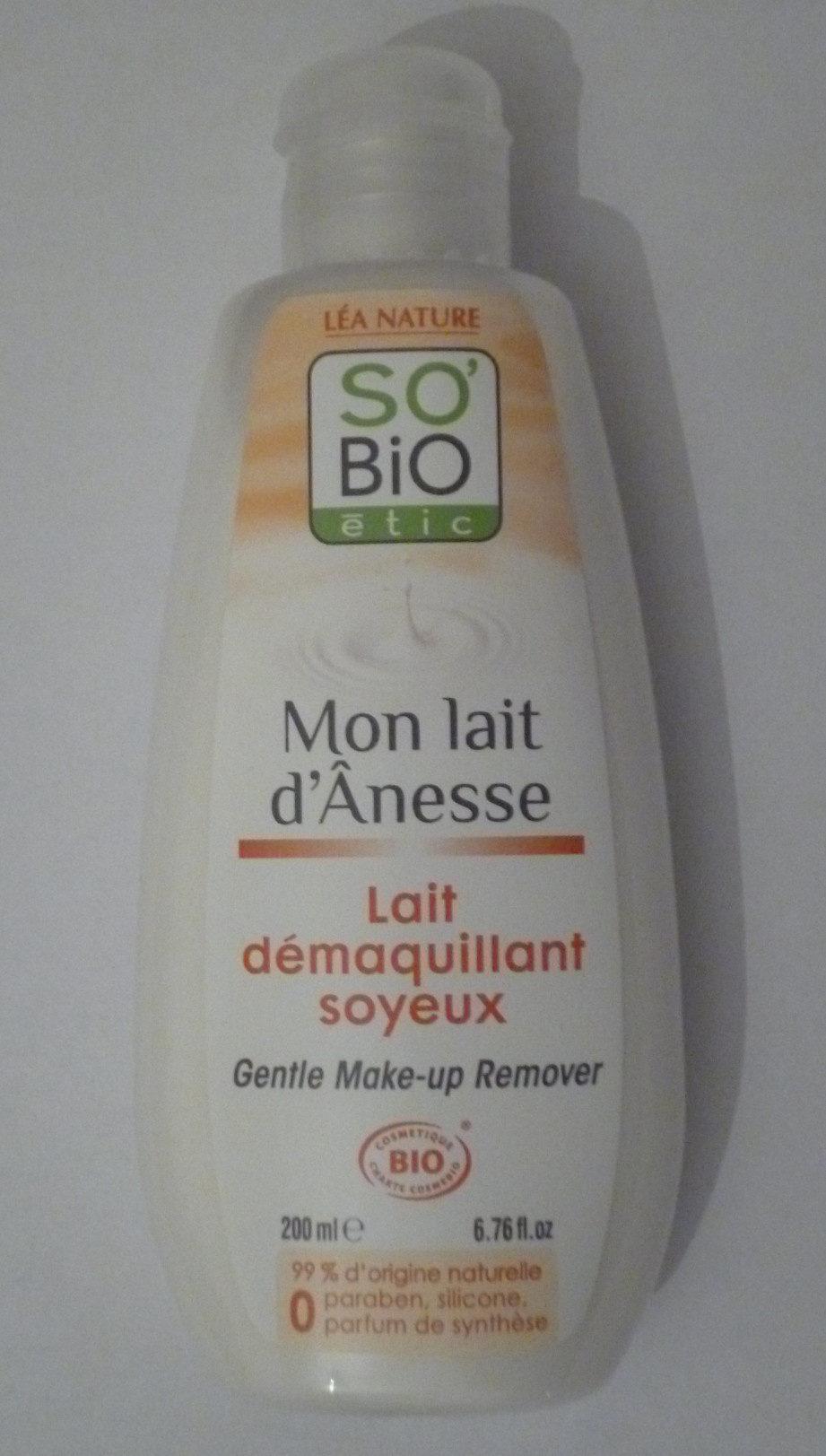 Lait démaquillant soyeux - Mon lait d'Ânesse - So'Bio étic - Produit