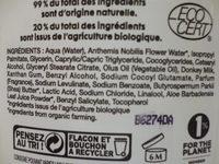 Lait démaquillant soyeux - Mon lait d'Ânesse - So'Bio étic - Ingredients
