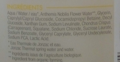 Nutritive Gel nettoyant surgras - Ingredients
