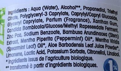 Déo Peaux Normales à la poudre de Bambou - Ingredients