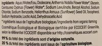 Démaquillant Yeux Ultra-doux Bio - Ingredients
