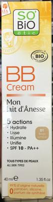 BB Cream Mon lait d'Ânesse  SPF 10 - 01 beige lumière - Product