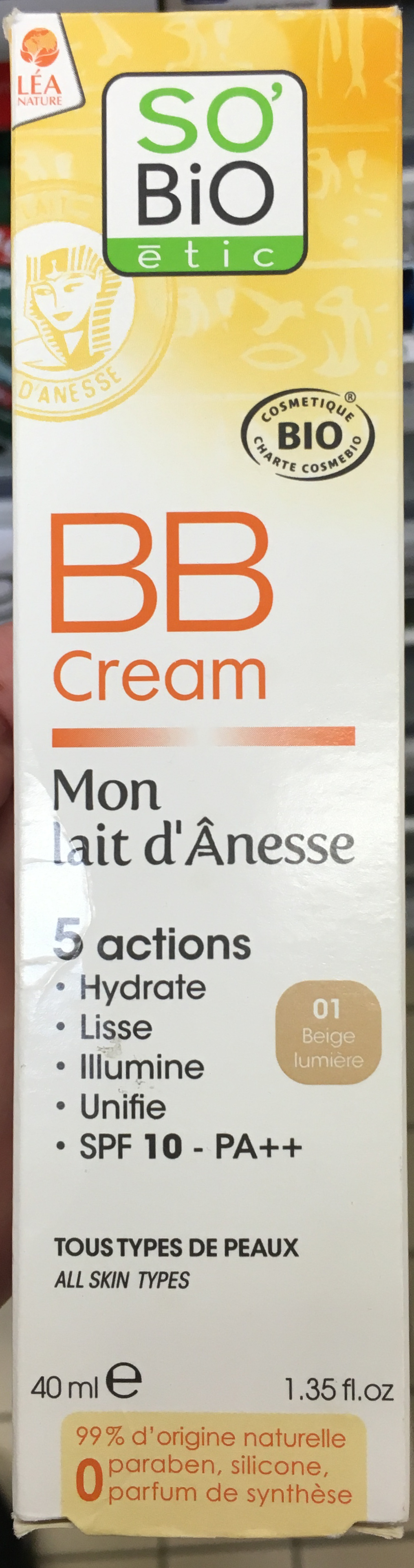 BB Cream Mon lait d'Ânesse  SPF 10 - 01 beige lumière - Produit - fr