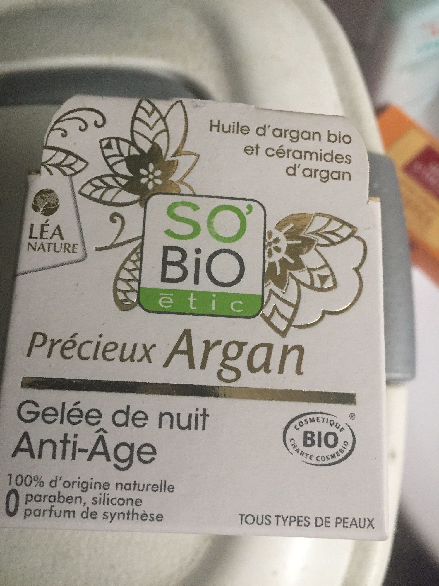 Gelée De Nuit Anti-âge à L'argan Bio - Produit