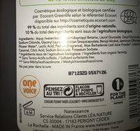 Natessance Gel Douche Jasmin - Ingredients