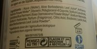 Hydra aloe vera - Ingrédients