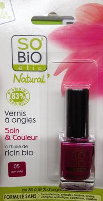 Vernis à ongles soin et couleur à l'huile de ricin bio - 05 divin violet - Product