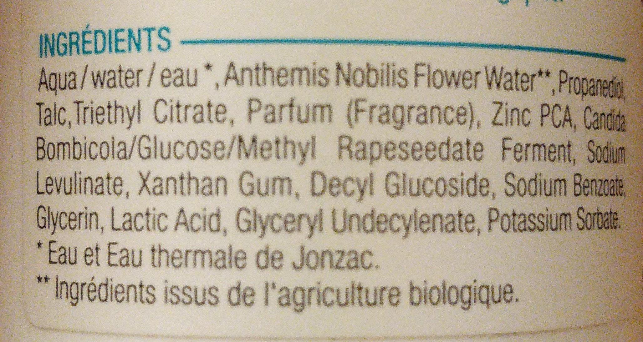 Déo eau thermale Jonzac - Ingredients