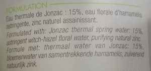 Eau thermale Jonzac purifiante - Ingredients