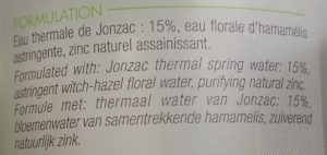 Eau Thermale Jonzac - Eau micellaire purifiante - Ingredients - fr
