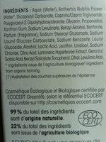 Fluide Bio Détoxifiant - Nuit Aqua énergie - Ingrédients