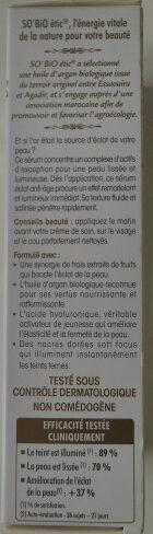 Précieux Argan- Sérum éclat anti-age - Ingrédients - fr