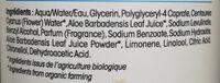Eau micellaire hydratante Hydra Aloe Vera - Ingredients