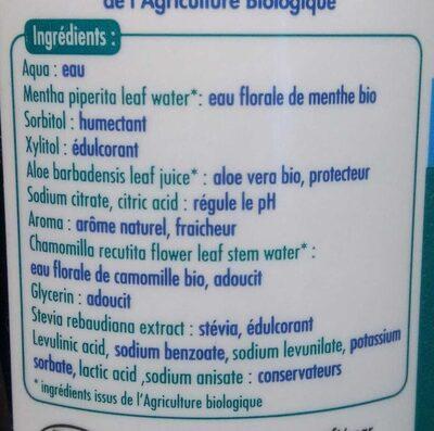 Bain de bouche fraîcheur intense - Ingredients - fr