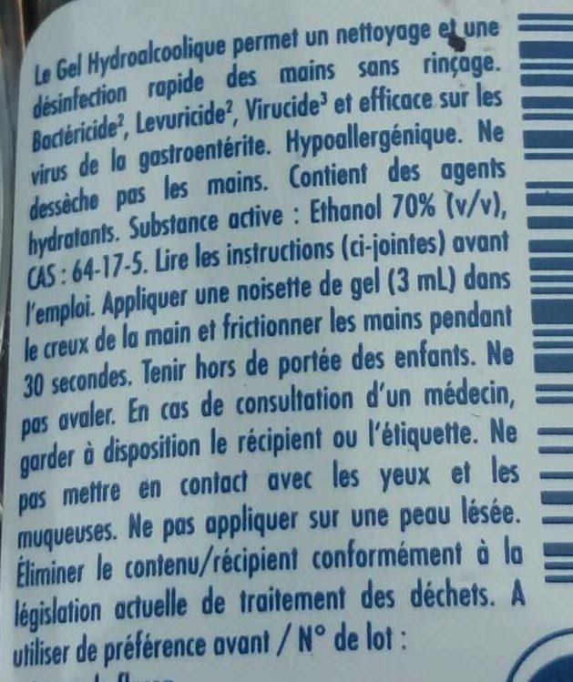 Bactidose Gel hygiène mains - Ingredients - fr