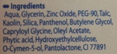 Lutsine Eryplast Pate à L'eau Soin Des Fesses 75G - Ingrédients