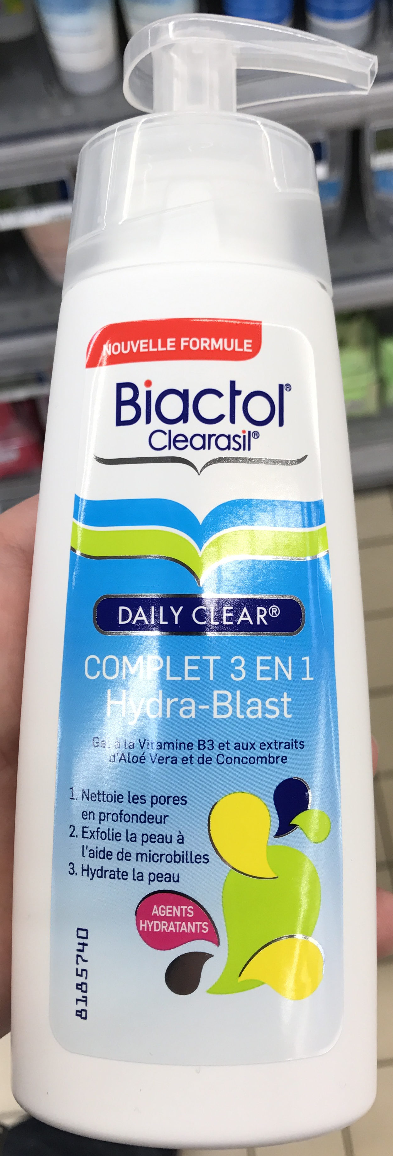 Clearasil Daily Clear Complet 3 en 1 Hydra-Blast - Product - fr