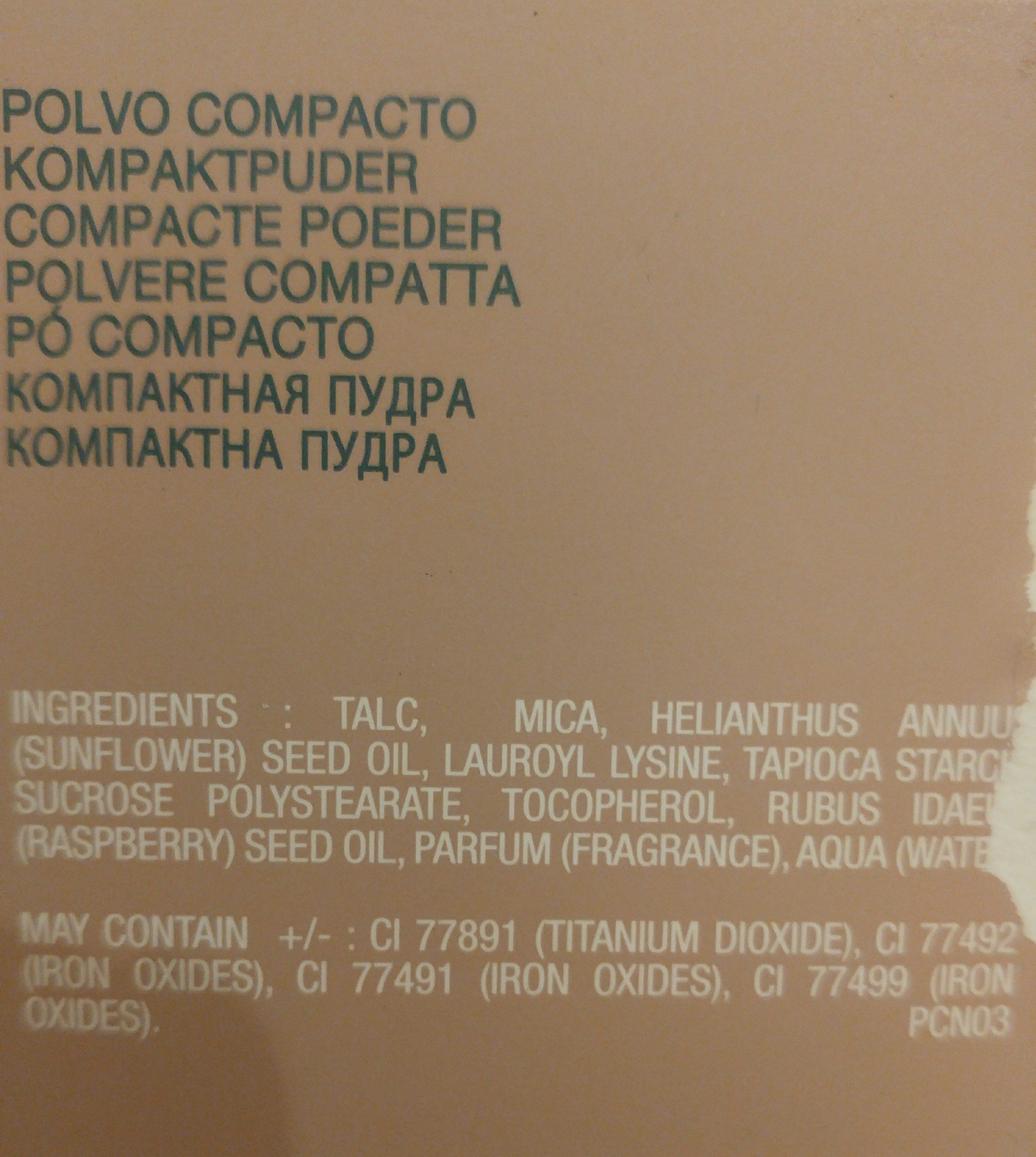 Santé Et Beauté / Hygiène Personnelle / Cosmétiques - Ingredients