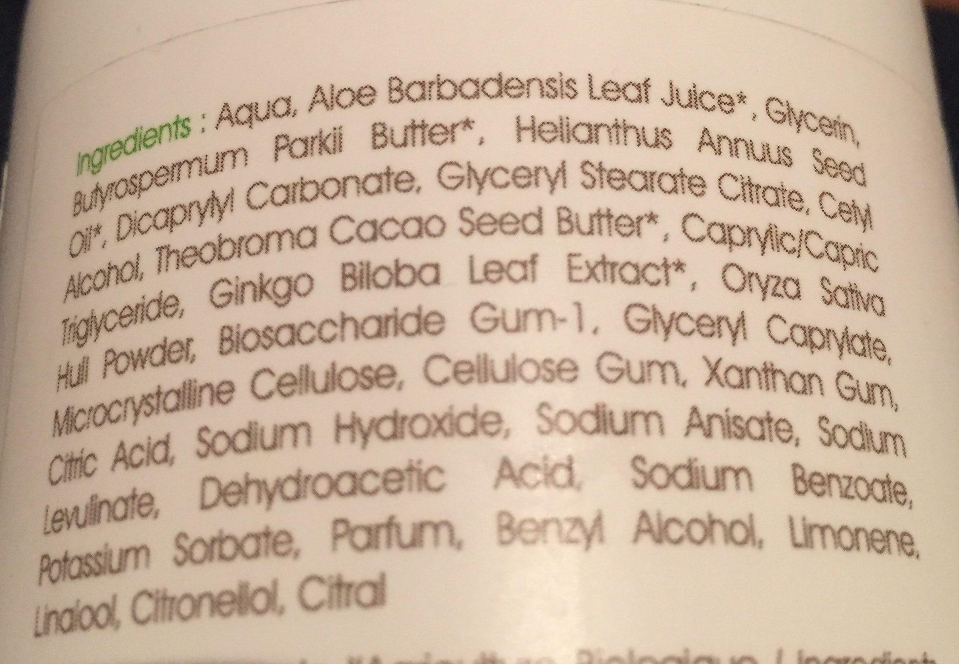 Lait Corps Hydratant Pour Toute La Famille Bio Ginkgo Biloba - - Centifolia - Ingrédients - fr