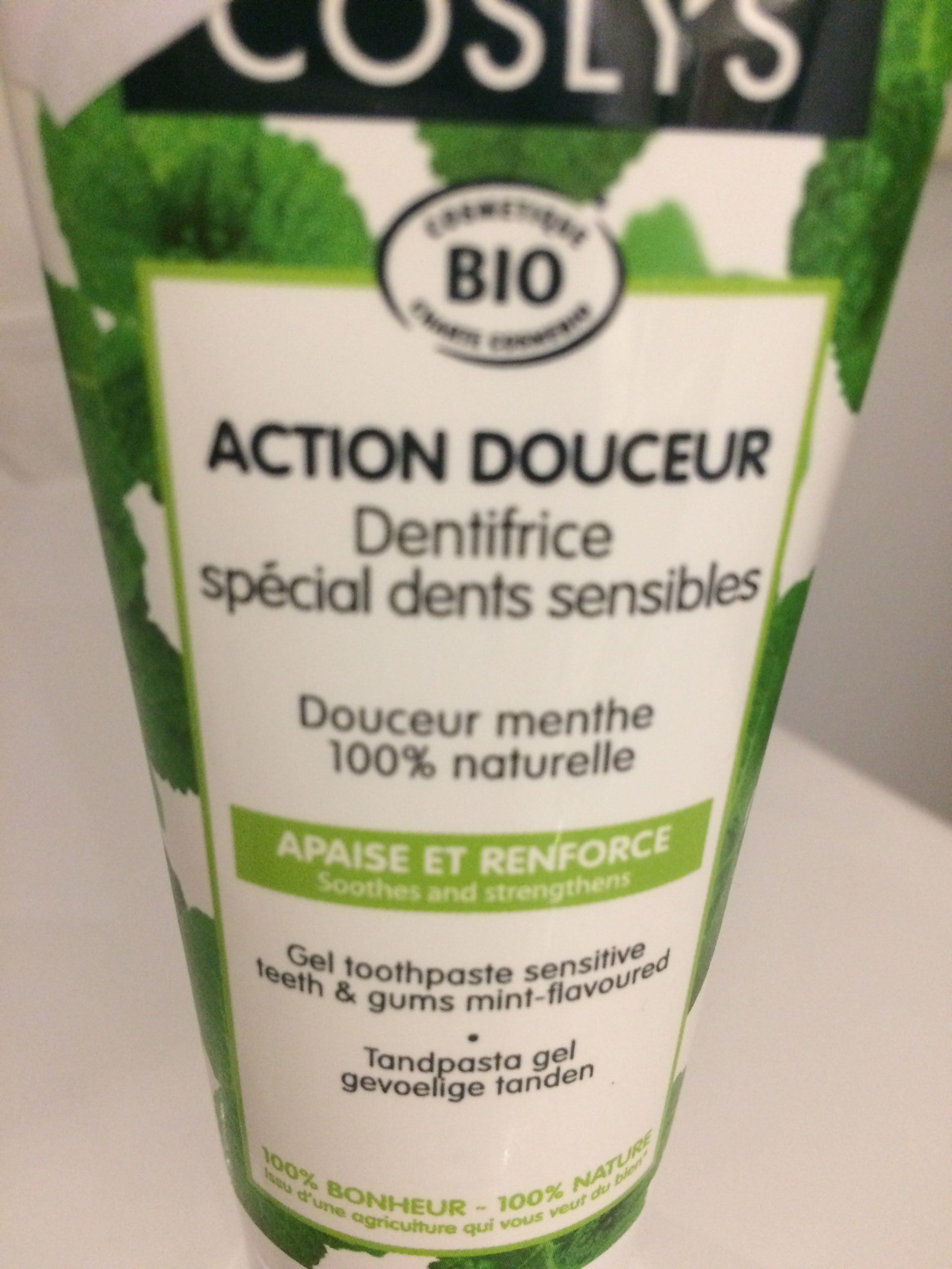 Dentifrice dents sensibles Menthe & propolis - Produit - fr