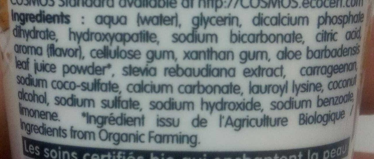 Pâte Dentifrice Blancheur Et Soin - 75 ML - Coslys - Ingredients