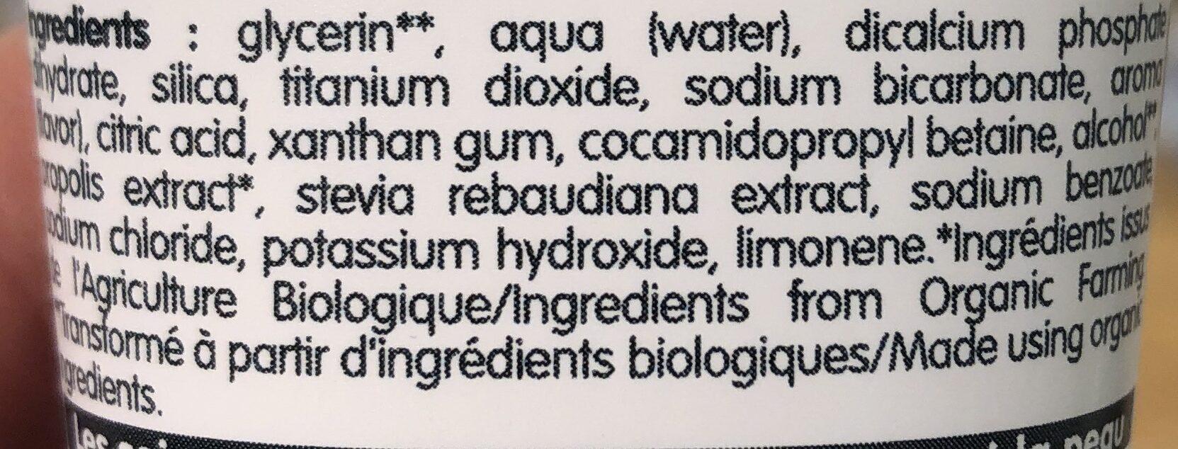 Dentifrice Blancheur - Ingredients - fr