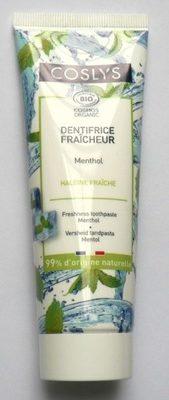 Dentifrice Fraîcheur Menthol Coslys - Product