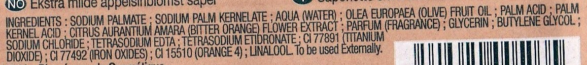 Savonnettes extra douces Fleur d'oranger - Ingredients