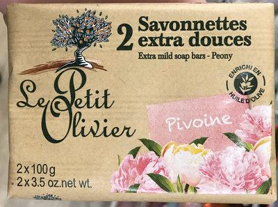 2 savonettes extra douces Pivoine - Produit - fr