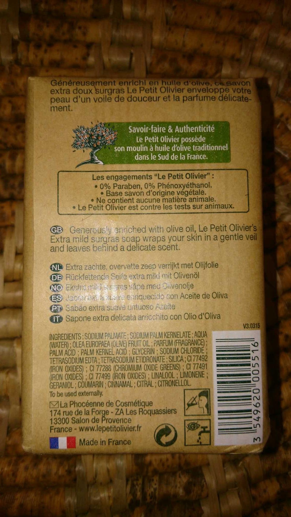 Savon Extra doux Surgras Huile d'Olive - Product - en