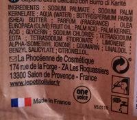 Savon extra doux surgras - Ingredients - fr