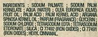 Savon extra doux Surgras Huile d'Argan - Ingredients