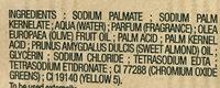 Savon extra doux surgras Huile d'amande douce - Ingredients