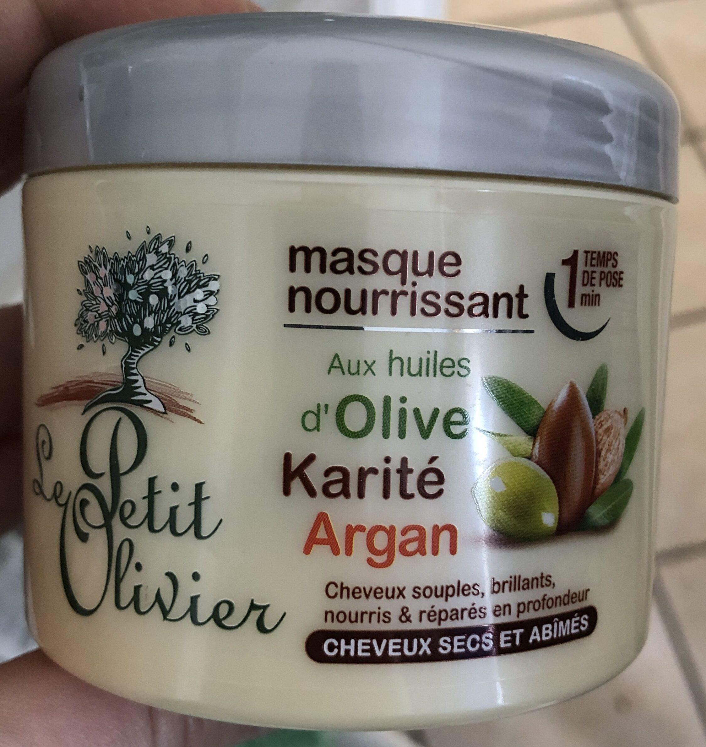 Masque nourrissant aux huiles d'olive, karité, argan - Product - fr