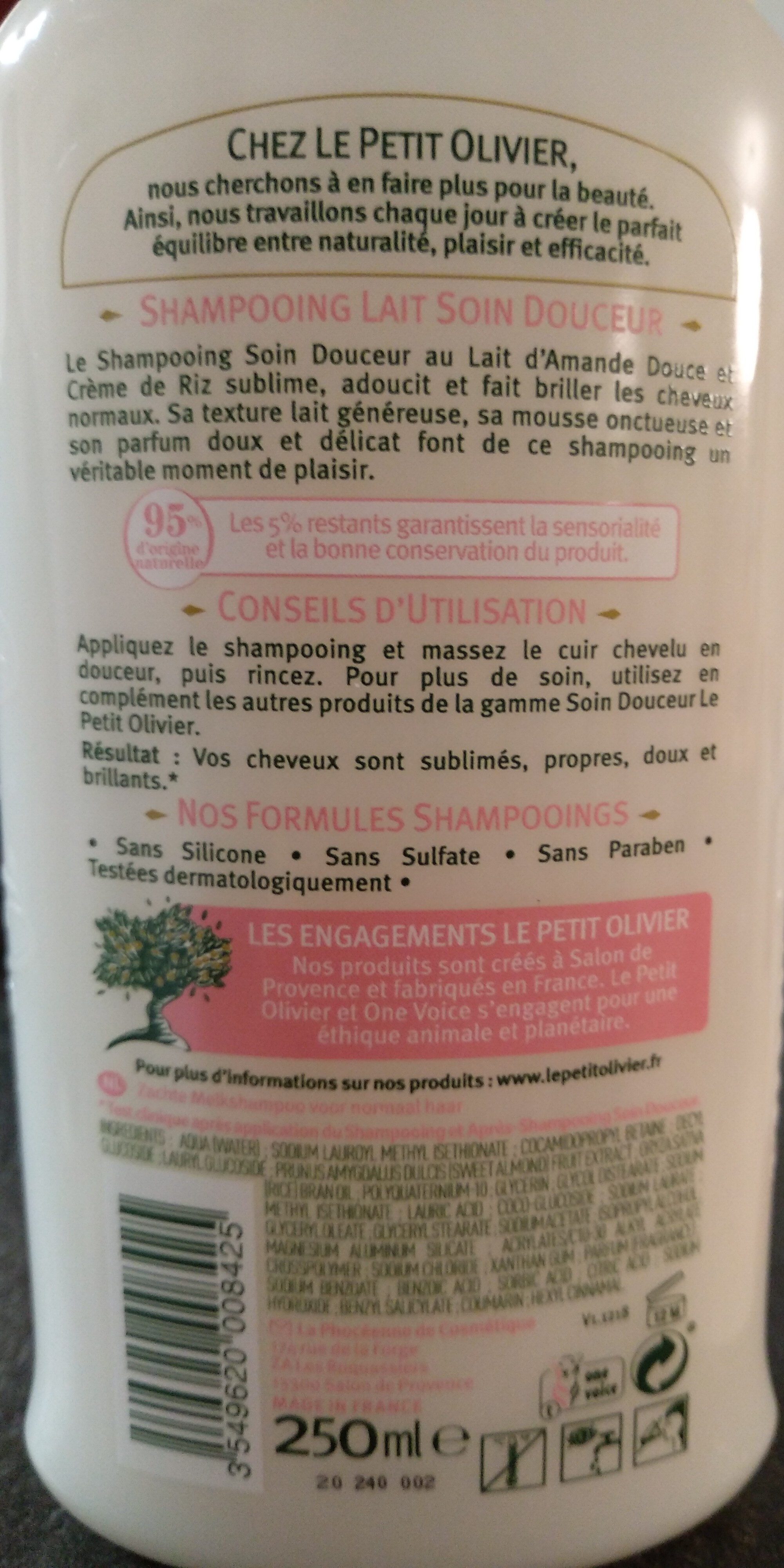 Shampoing Lait Soin Douceur - Product - fr