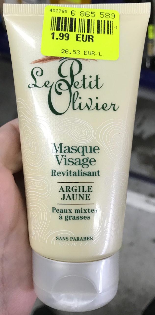 Masque Visage Revitalisant Argile Jaune - Product - fr