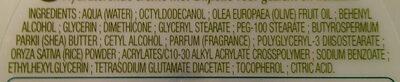 crème Visage & Corps - Ingredients - fr