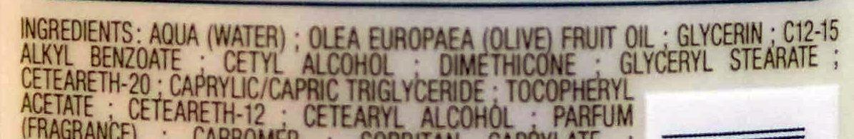 Crème mains Hydratante l'huile d'olive  Fluide & non grasse - Ingredients