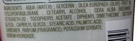 Crème mains hydratante Huile d'olive - Ingredients