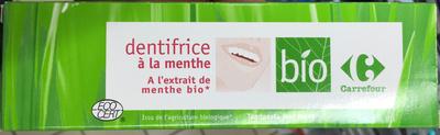 Dentifrice à la menthe à l'extrait de menthe bio - Product
