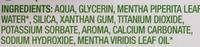 Dentifrice à la menthe à l'extrait de menthe bio - Ingredients - fr