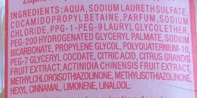 Shampooing doux kiwi et pamplemousse - Ingredients - fr