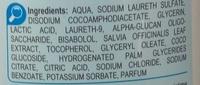 Gel intime enrichi aux extraits naturels de sauge - Spécial irritation - Ingrédients