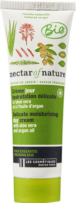 Crème jour hydratation délicate Aloé Vera & Huile d'Argan - Product - fr