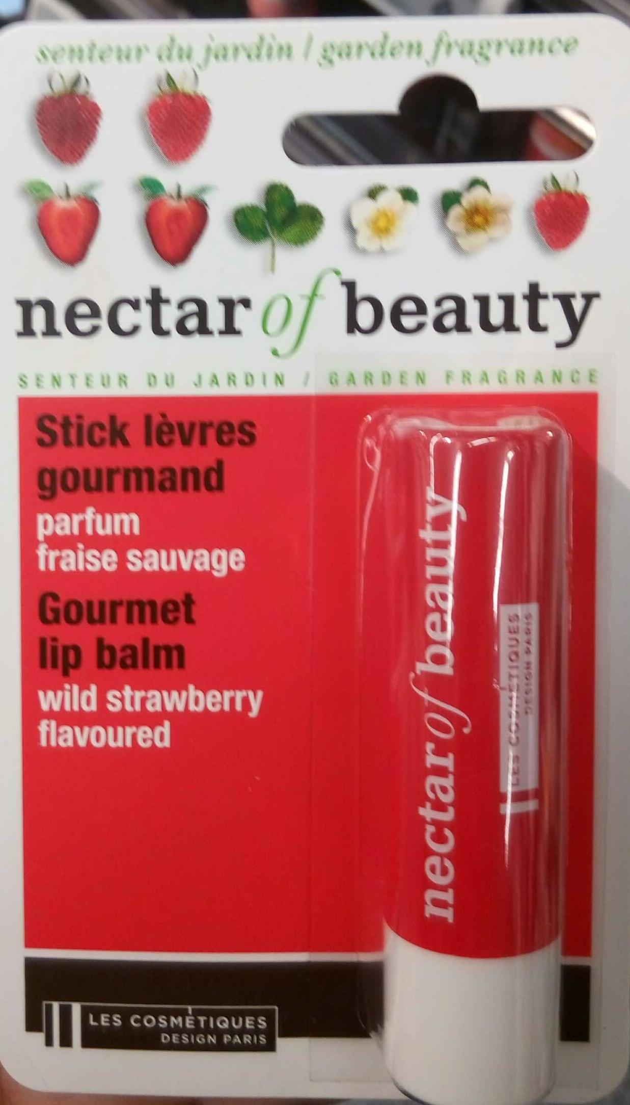 Stick lèvres gourmand parfum fraise sauvage - Produit
