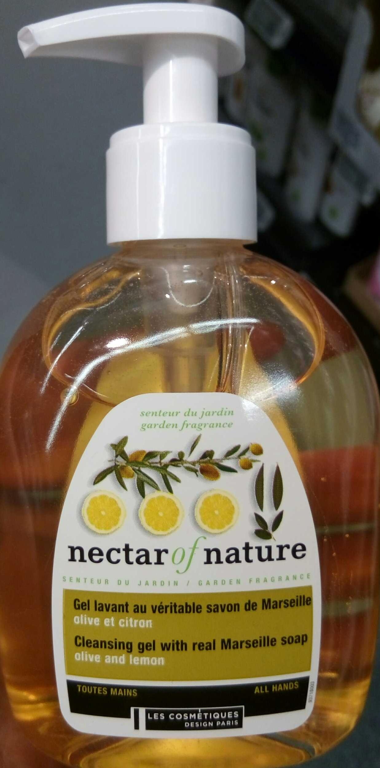 Gel lavant au véritable savon de Marseille Olive et Citron - Product