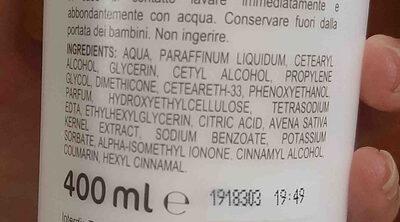 hidratante corporal con avena - Ingredients - en